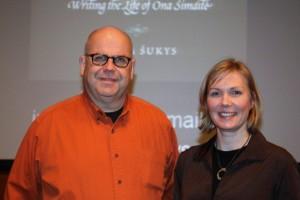 With Gediminas Murauskas at Creighton University, Omaha. Photo: Algis Praitis.